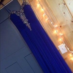 Dresses & Skirts - Blue rhinestone prom dress